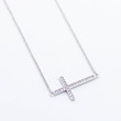 Cross sterling silver necklace