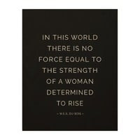 Determined Woman Inspirational Quote Black White Wood Wall Art