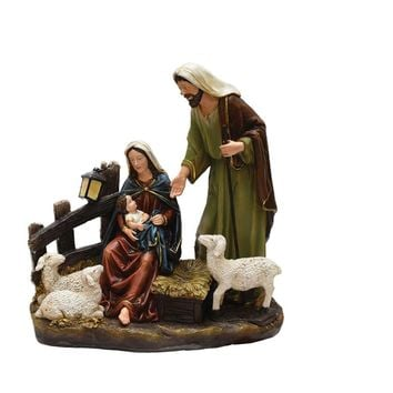 "13"" Nativity Scene with Joseph  Mary and Baby Jesus Religious Christmas Table Top Figure"