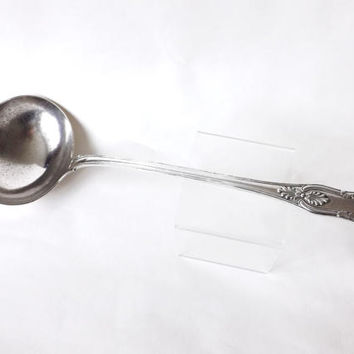 Large Silver Plate Serving Ladle for Punch or Soup, Kings Pattern English Cutlery, Antique Sheffield Silverware, Flatware, Downton Abbey