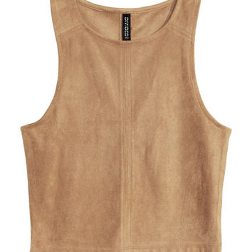 Imitation Suede Top - from H&M