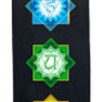 Seven Chakras - Black - Rod Tapestry