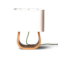Michigan Left Table Lamp - Walnut Bent Plywood