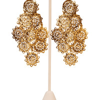 Antiqued Floral Drop Earrings