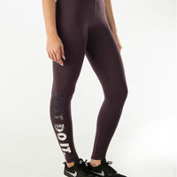 Nike Pro Leg-A-See JDI Leggings Tight Just Do It Metal 678858 NWT Metallic