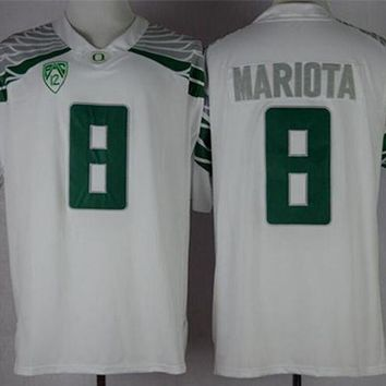 ONETOW NIKE Oregon Duck Marcus Mariota 8 College Limited Jerseys Size S,M,L,XL,2XL,3XL