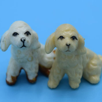 Miniature Poodle Figurine Pair Vintage Set of 2 Celluloid Mini Dog Figurines Dog Lover Gift Dog Collectible Mini Poodles Gift for Her