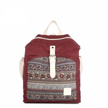 Paisley Vintage Dual Purpose Shoulder Backpacks