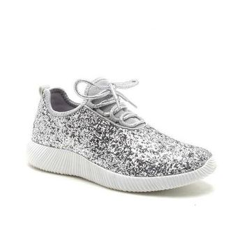Silver Glitter Shoes