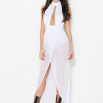 Bond Girl Sheer Maxi Dress