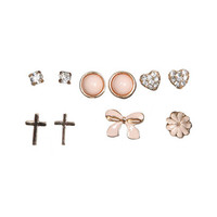 6 Epoxy Bow Earring Set | Shop Jewelry at Wet Seal