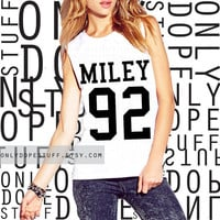 Miley Cyrus Shirt Bangerz Team Shirt Jersey Muscle Tee Muscle Tank Miley Cyrus Tshirt Miley Cyrus Tank Top Womens Miley Cyrus