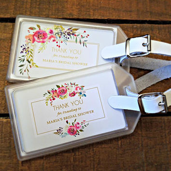 bridal shower luggage tag favors baby shower luggage tag favors destination wedding favors