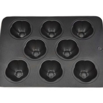Butterflower Plum Blossoms Shaped Cupcake & Muffin Pan, Non-Stick