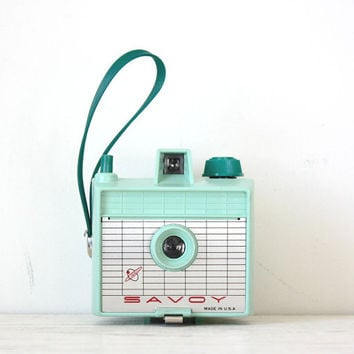 Mint Green Imperial Savoy Camera WORKING Vintage