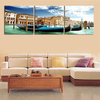 3pc/set Large Sea Hut Canvas Painting Pictures On The Wall Print Paintings Home Decor Art Modular No Frame