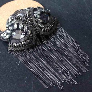 Korean Tassel Epaulets Epaulette Stage Dress Punk Steampunk Goth Cosplay Accessories