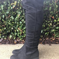 Night Out Over The Knee Boots - Black