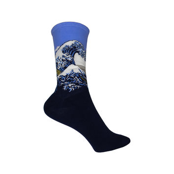 Great Wave Crew Socks in Pale Purple
