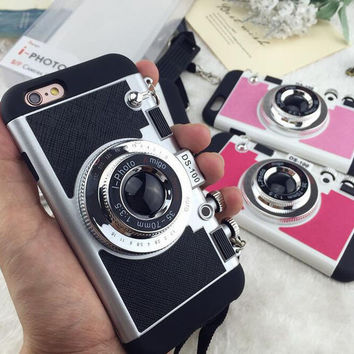 Retro Camera Case Cover for iPhone 7 7Plus & iPhone se 5s 6 6 Plus-0322