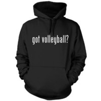 got volleyball? Funny Hoodie Sweatshirt Hoody Humor - Many Sizes and Colors!