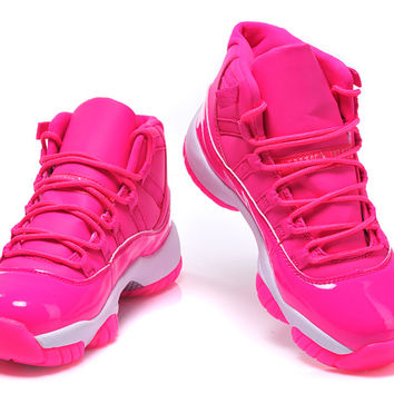 Womens Air Jordan XI 11 Retro 2015 Pink White Basketball Shoes - Womens Air  Jordans 1d81821c6fca