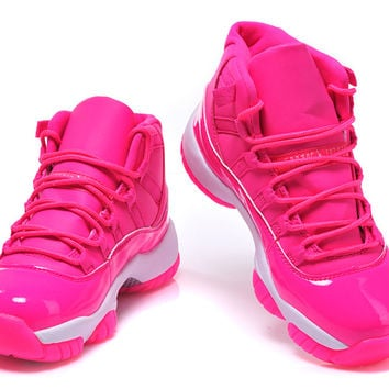 Womens Air Jordan XI 11 Retro 2015 Pink White Basketball Shoes - Womens Air Jordans