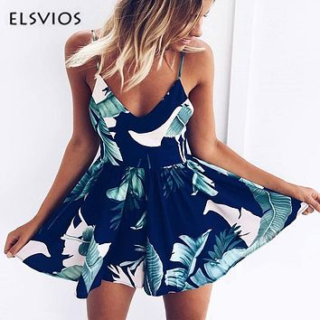 Spring Summer Floral Print Rompers Jumpsuits women Sexy off shoulder Overalls lady