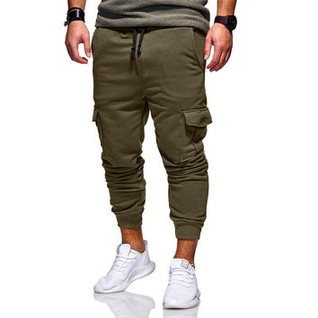 Mens Joggers New Brand Male Trousers Men Fashion Casual Solid Pants Sweatpants Jogger khaki Black high quality Men's Clothing