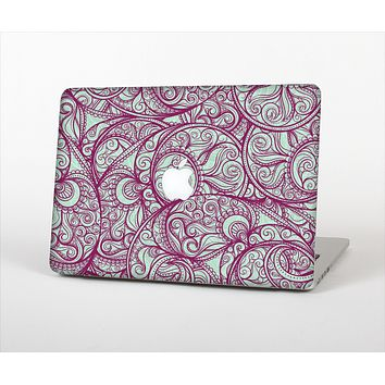 The Vector Purple Thin Laced Skin Set for the Apple MacBook Pro 15""