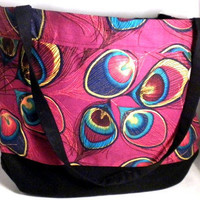 Peacock large purse peacock shoulder bag by redmorningstudios