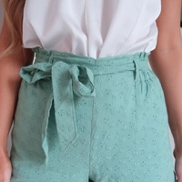 Perfect Life Shorts: Dusty Mint