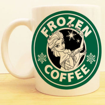 Elsa Frozen Coffee Mug |  Let it Go Starbucks |  Disney Princess