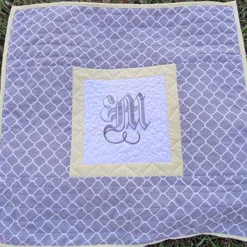 Personalized baby quilt or blanket - Baby quilts for sale - 30x30 Gender neutral baby quilt - Baby shower gift