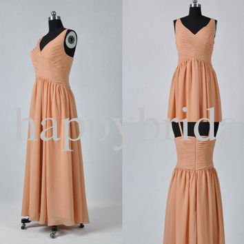 Vintage 1960s Long Light Gold Bridesmaid Dresses Prom Dresses Formal Party Evening Dresses Homecoming Dresses Plus Size Dresses
