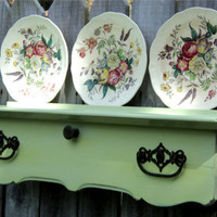 Plate Display Wall Art Up Cycled Furniture by TheSavvyShopper1