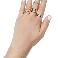 Through Thick and Thin Multi Ring Set