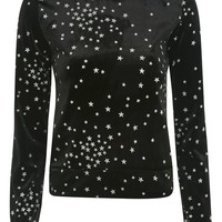 **Star Velvet Sweatshirt by Nobody's Child - New In This Week - New In