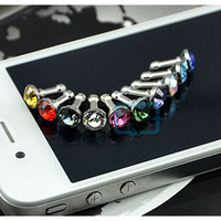 Bling dust cover plug iphone ipod ipad or any other device