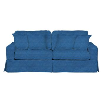 Americana Slipcovered Sofa in Indigo Blue