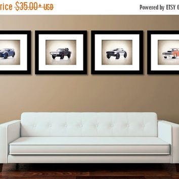 Weekend Sale Discount Set of 4 Fast & Furious cars photo print,boys room decor,fast and furious car decor,fast and furious cars,kids room de