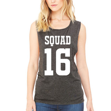 Muscle Squad Tank Top - Jersey Style Tank