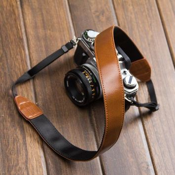 Day-First™ Leather Nikon Canon DSLR Camera Strap