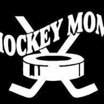 Hockey Mom Vinyl Car Decal