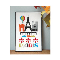 Paris Cross Stitch Pattern Instant Download