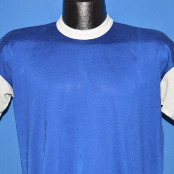 70s Mason Blue And White Jersey Large