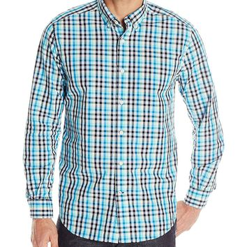 Nautica Men's Star Plaid Long Sleeve Shirt