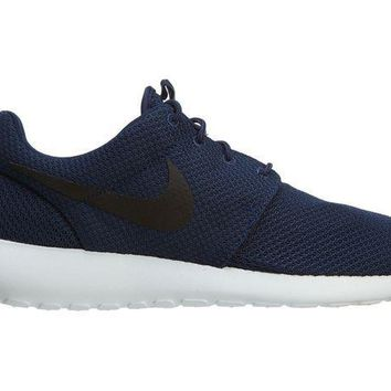 PEAPON Nike Roshe One Mens 511881-405 Midnight Navy Blue Mesh Running Shoes Size 9.5