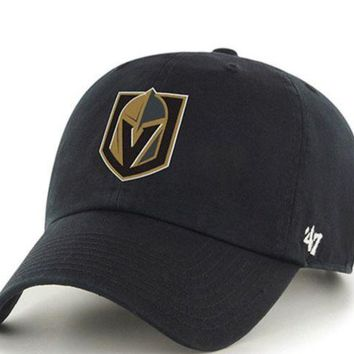 ONETOW Forty Seven Brand Vegas Golden Knight Clean Up Hat In Black