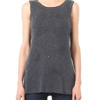 The Muscle Tee distressed T-shirt